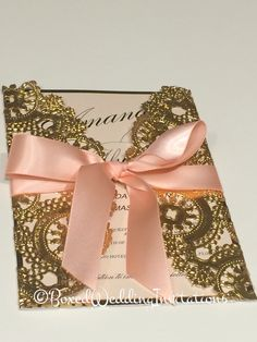 ✨Blush and gold-perfection!✨   See more at www.boxedweddinginvitations.com…