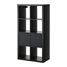 IKEA - KALLAX / DRÖNA, Open kast met 2 inzetten, zwartbruin,