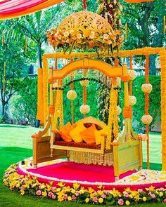 Mesmerize your guests with the charm of these engagement stage decorations ideas. Discover about the latest Engagement Stage Decoration Ideas with this post. Desi Wedding Decor, Wedding Hall Decorations, Wedding Mandap, Backdrop Decorations, Flower Decorations, Backdrops, Wedding Ideas, Mehendi Decor Ideas, Mehndi Decor