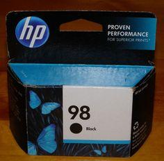Genuine HP 98 Black Printer Ink Oct 2014 HP 98 Black UNOpened #HP