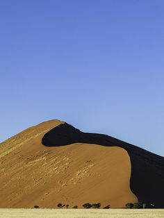 The famous red dunes at Sossusvlei,Namibia