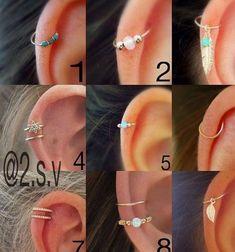 Cuff Wrap No Piercing * Red and White ear cuff * Ear Vine * Cuff and wrap earrings - Custom Jewelry Ideas Helix Earrings, Cartilage Earrings, Crystal Earrings, Clip On Earrings, Helix Piercing Jewelry, Helix Ring, Stud Earrings, Diamond Earrings, Ear Peircings