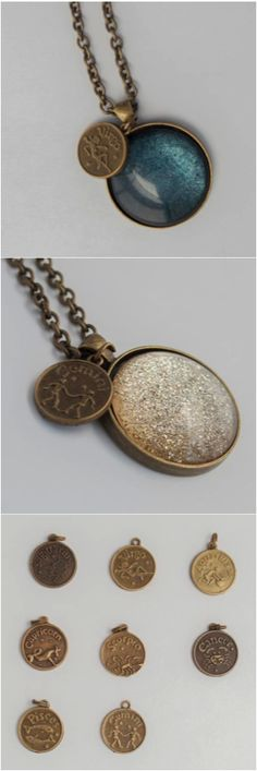 Got an astrology lover in your life? This whimsical necklace makes a beautiful accent to your everyday jewelry collection, or even that perfect gift for a friend or family member. This pendant features a gorgeous hand painted glass cabochon created to be reminiscent of the stars and galaxies set within an antique gold, round pendant that has been hung from a high quality gold tone chain. | Made on Hatch.co by designers who care.