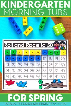 These 21 adorable spring-themed math and literacy resources make the perfect low-prep morning tubs for your kindergarteners! Full of games and interactive, hands-on activities, these morning tubs keep students engaged and learning all season long. Subtraction Activities, Addition Activities, Kindergarten Math Activities, Sight Word Activities, Counting Activities, Letter Activities, Spring Activities, Hands On Activities, Teaching Sight Words