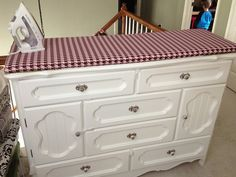 All done! Ironing board dresser
