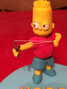 Bart simpson cake topper