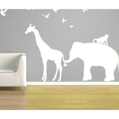 Another amazing Sex Talk Saturday!!! Any questions that weren't posted we WILL have for you guys next week - I had a technical difficulty & my charger was in the bedroom with my sleeping son  I wanted to post this wall decal before I head off to bed! Looove the inverse silhouette, perfect for a jungle/safari themed room & it's available on etsy via janeymacwalls ❤️ #nursery #design #decal #safari #jungle #silhouette #white #decor - @embracethemessybun- #webstagram