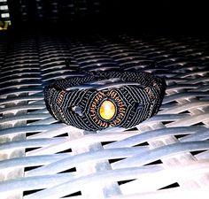 Stone macrame bracelet