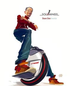 Thank you Daniel Shubin for this awesome illustration of Shane Chen and our Solowheel Xtreme! #danielshubin #illustration #design #art #amazing #awesome #inventist #inventistinc #shanechen #theyseemerollin #realdeal #technology #tech #solowheel #solowheelxtreme  www.behance.net/SHUBIN