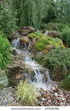 Do this instead of the header pond/waterfall?? It would be beautiful with less maintenance.
