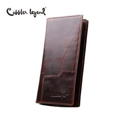 Cobbler Legend Business Men's Wallet Solid Real Leather Long Wallet Portable Cash Purses Casual Standard Wallets Male Clutch Bag -- Vy mozhete nayti boleye podrobnuyu informatsiyu, posetiv ssylku na izobrazheniye.