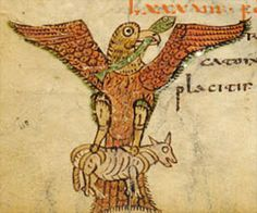 Sacramentary of Gellone - eagle with snake and calf