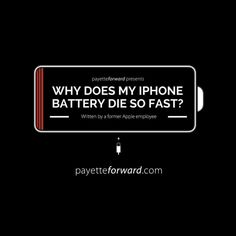 From a former Apple employee, updated for iOS 9: Learn the real reasons your iPhone battery dies so quickly and exactly what to do to fix it. #apple #battery #batterylife