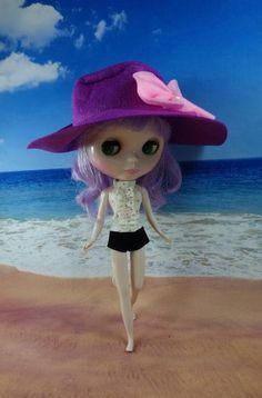 Summer Blythe set, cute designed Blythe set outfit minus purple hat