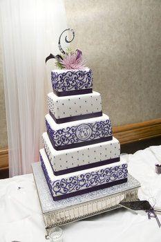 Wedding, Cake, Purple