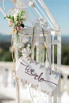 cute we do wedding ceremony sign