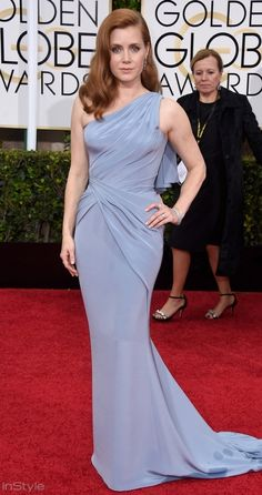 Amy Adams in Versace st the 2015 Golden Globes