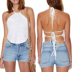 May-Maya-Womens-Halter-Lace-Open-Back-Crop-Top-Shirt-Tee-Tank-Cami