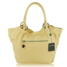"$498.00 ARCADIA Italian Designer Pale Yellow Leather Tote Handbag - Show off your style and make a fashion statement with an eye-catching latest addition to the ""Arcadia"" brand!Since 1975 ""Pelletteria Arcadia S.r.l."" - Corropoli, Italy, has been producing beautiful stylish leather bags.""Arcadia"" bags are reinvented every season and you can always expect innovative ideas from this well-established  ..."
