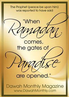 When Ramadan Comes...