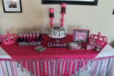 Catherine M's Birthday / Diva Karaoke Party - Photo Gallery at Catch My Party Diva Birthday Parties, Combined Birthday Parties, Diva Party, Girl Birthday, Birthday Ideas, Animal Print Party, Karaoke Party, Diy Party Decorations, Party Planning