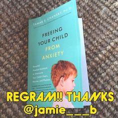 Thank you @jamie___b for suggesting we share this book with our followers: A dear friend sent me an excellent review and recommendation of THIS book! As other reviews suggest, this is a must read book for parents of children with anxiety challenges. So many books tell you what to do, but this one tells you how to do it. Its chuck­full of practical and useful examples on ways to discuss and talk to your child about anxiety in kid friendly and parent friendly language. It also has been noted…