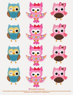Free Printable Party Invitations Owl Cupcake Toppers Template - could use on cards Owl Parties, Owl Birthday Parties, Diy Birthday, Free Printable Party Invitations, Owl Invitations, Birthday Invitations, Owl Templates, Printable Templates, Applique Templates