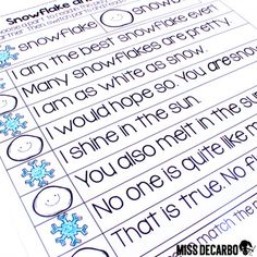 January Just Print Fluency Pack Fluency Activities, Small Group Activities, Winter Activities, Primary Classroom, Kindergarten Classroom, Fluency Practice, Winter Things, Reading Fluency, Winter Theme