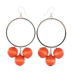 Huvitus earrings, orange - Aarikka