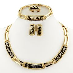 Find More Jewelry Sets Information about Fashion Dubai 18K gold jewelry sets Africa Women's Retro necklace Bracelet Ring Earrings Austrian crystal jewelry  Free shipping,High Quality jewelry american,China jewelry name Suppliers, Cheap jewelry made in turkey from AE Jewelry&sport jerseys on Aliexpress.com