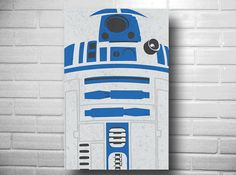 Star Wars drone R2D2 poster geekery by DEPdesigns on Etsy