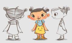 212 отметок «Нравится», 7 комментариев — lenny wen (@lunartcy) в Instagram: «Sneak peek of Yaya's character design for @kiddiescity_games  #characterdesign #character  #girl…»
