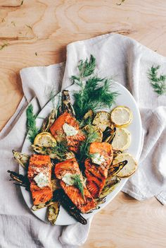 Grilled Salmon Fennel And Corn With Dill Butter Grilled Wild Salmon Fennel And Corn With Dill Butter Brooklyn Supper Grilled Salmon Recipes, Fish Recipes, Seafood Recipes, Cooking Recipes, Healthy Recipes, Yummy Food, Tasty, Fish And Seafood, Salads