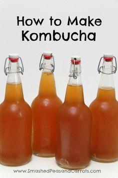 How to Make Kombucha: A Step by Step Guide // SmashedPeasandCarrots.com