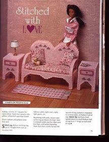 labores de esther. todo para barbie: Sofá y mesitas para barbie
