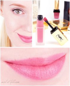 Yves Saint Laurent Tatouage Couture Liquid Matte Lip Stain N°11 Rose Illicite - Review und Swatches Ysl, Yves Saint Laurent, Lip Swatches, Lip Stain, Pink Lips, Make Up, Lipstick, Couture, Beauty