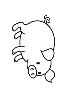 Coloriage Cochon. Images pour l'écoles et l'éducation. Dessins et photos éducatives. Ressources pédagogiques. Dessin 18024. Farm Animals Preschool, Farm Animal Crafts, Pig Crafts, Farm Crafts, Animal Crafts For Kids, Toddler Crafts, Animal Sketches, Animal Drawings, Painted Rocks Craft