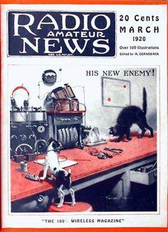 """HIS NEW ENEMY"" | Radio Amateur News by Hugo Gernsback, March issue, 1920"