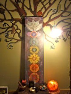 bodhi CHAKRAS painting yoga art reiki energy YOGA PAINTING spiritual painting framed painting prana. $299.00, via Etsy.