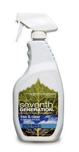 Seventh Generation Glass & Surface Cleaner, Free & Clear, 32-Ounces Bottles (Pack of 12) by Seventh Generation. $56.89. will not leave harmful residues. Case Pack. non-toxic, Hypo-allergenic, Biodegradable, Vegetable based and contains NO dyes or fragrances.. does not create unpleasant fumes. cleans without streaks, and is 100% solvent and VOC free. Seventh Generation Natural Glass & Surface Cleaner cleans without streaks, and is 100% solvent and VOC free. Most conventional glas...