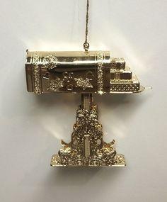 Danbury Mint Collection 1992 Mailbox 23K Gold Christmas Ornament