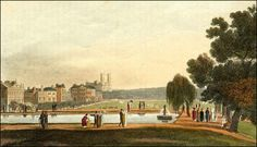 Green Park, from the print collection of Regency author Louise Allen