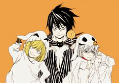 death note imagens L, Mello, and Near wallpaper and background fotografias