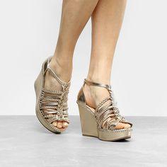 c247b2a46 Sandália Anabela Shoestock Trança Feminina
