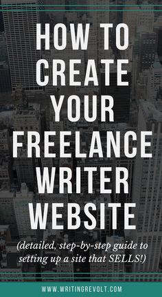 Wondering how to create a freelance writing portfolio that SELLS? Need help setting up your freelance writer website? This post has screenshots to walk you through every step – no tech hassles required! :) Check it out! | freelance writing websites | make money writing online | freelance writing tips | freelance website design |