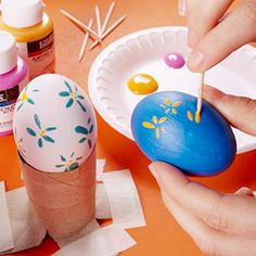 Gorgeous self made #Easter #Eggs #EasterEggs. I love this! =) #DIY #Crafts #Holidays =)