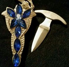 Sapphire Blue Elvenspike Classic Necklace Knife  $25 + shipping