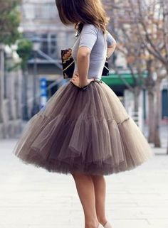Tulle tutu.  I don't think I would ever wear it, but that's not stopping me from liking it.