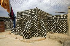 Casas de barro decoradas de de Tiébélé, Burkina Faso