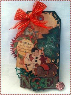 Great Christmas tag from Janine Smith #graphic45